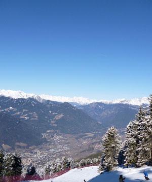 Im Tal gibt es schon keinen Schnee mehr! (Südtirol/Italien)