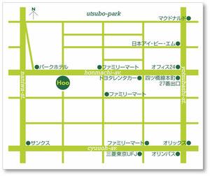 地下鉄四つ橋線本町27番出口本町通りを西へ、徒歩約5分