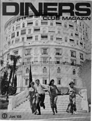 JF Savornin en couverture de Diners Club Magazin (juin 68) Monaco