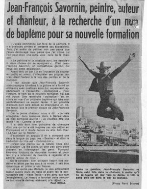 Article sur Jean-François Savornin (1967)