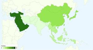Asie - 21 Pays