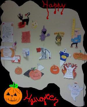Halloween cards - 1B class 2011