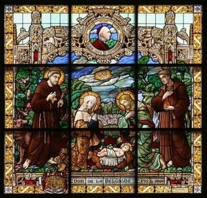 Krippe - Glasmalerei St. Katharinenkirche Bethlehem