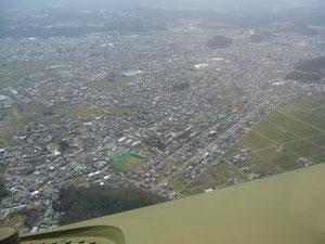 川辺町~美濃加茂市上空