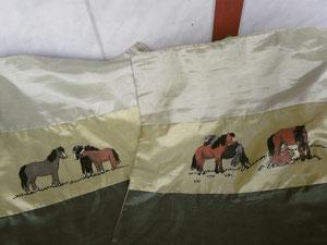 auch hier auf diesen Kissenbezügen  haben natürlich meine Ponys Model gestanden