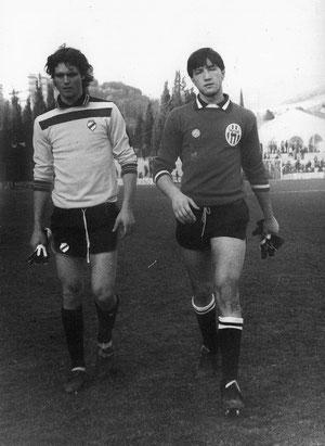 I due portieri, Mazzuzi e Zenga, a fine partita