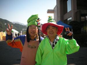 KSC 理事長(右) と 副理事長