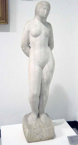 'Bathing' Nicos Dimiotis  (1930-1990) marble State Collection of Contemporary Art, Nicosia