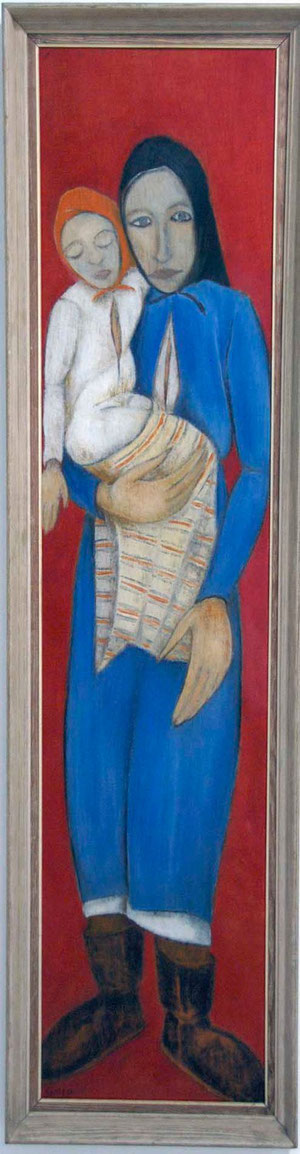 Virgin of Liopetri (1952) by Giorghios Giorghiou, State Collection of Contemporary Art, Nicosia