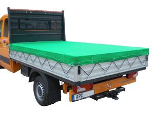 Bâche Filet micro mailles pour camion benne