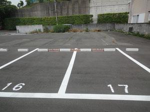 駐車場はNO.16とNO.17です。