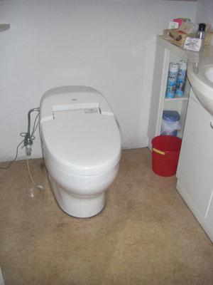トイレ床クッションフロア張替え 施工前