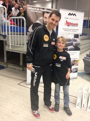 mit Timo Boll in Dresden