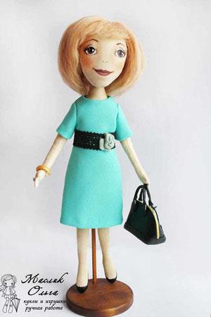 авторская текстильная кукла Маслик Ольги