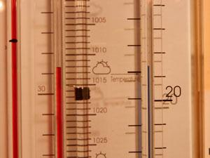 Den Schieber immer auf die aktuelle Temperatur einstellen