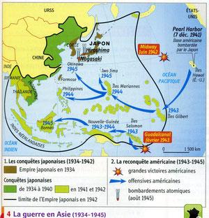 La guerre dans le Pacifique.