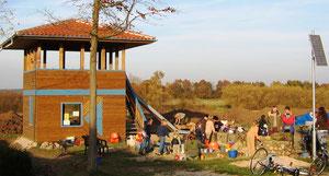 Wasserspielplatz mit Allerlaube