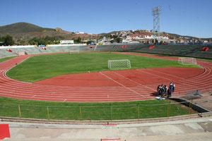 Das schöne Leichtathletik-Stadion in Zacatecas