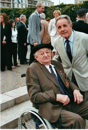 18 juin 2008 - Place du général de Gaulle au Havre - Monsieur LEBAS, Français Libre, 101 ans...