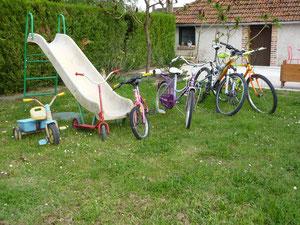 vélos du gîte