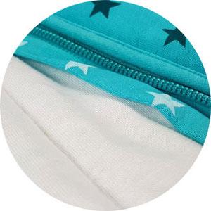 Babyschlafsack Schlummersack verdeckter Reißverschluss
