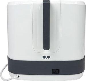 """Nuk Sterilisator """"Vario Express"""" Rückseite mit dem praktischen Ein-Aus-Schalter"""