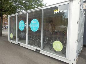 コンテナ店舗 自転車レンタル屋