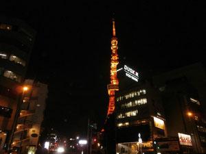 久しぶりに夜の東京タワー