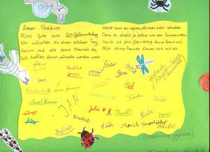 Die Klasse 6c vom Christian von Mannlich Gymnasium gratuliert
