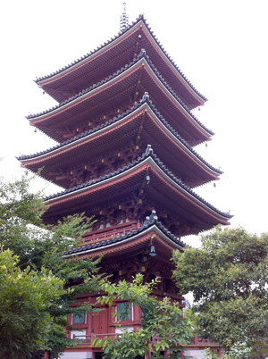 戦後に建てられた五重塔