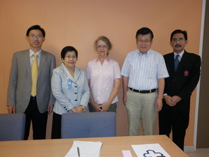 Prof.Sheila Norris and Mr. Yamada from Kwassui Women's Univ.