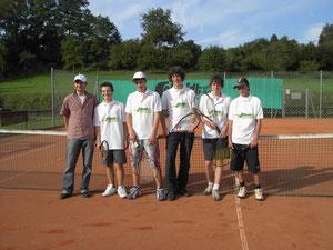 von links: Trainer Florian Weber, David Luckey, Dominik Rehak, Johannes Hohenstatt, Lorenz Beck und Pascal Topitsch