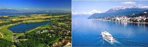 Divonne-les-Bains et Evian-les-Bains