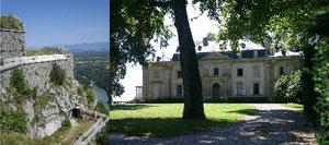 Le Fort l'Ecluse     et    le Château de Ferney-Voltaire