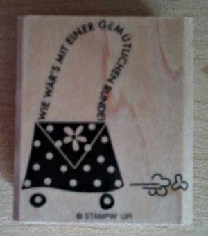 Einzelstempel auf Holz montiert, 4,5x5cm, 4€VB