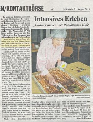 Pressemeldung Wuppertaler Rundschau