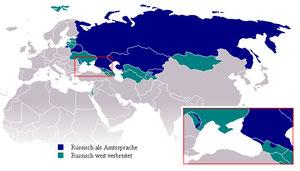 Verbreitung des Russischen in der Welt