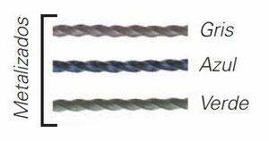 Cortinas antimoscas con tiras redondas metalizadas