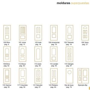 Paneles moldurados para puertas de entrada de aluminio