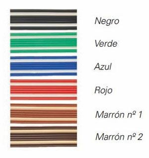 Catálogo de colores de la cortina antimoscas de plástico Marbella