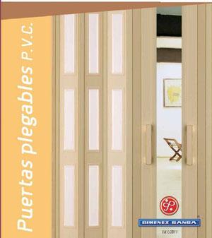 Puertas plegables de pvc para interior