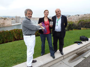 Preisverleihung in Marseille auf dem Festival Mondial