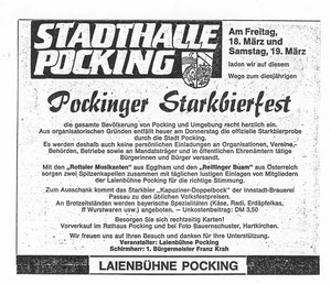 Pockinger Buam, Starkbierfest 1983