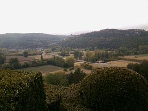 Aussicht von den hängenden Gärten von Marqueyssac