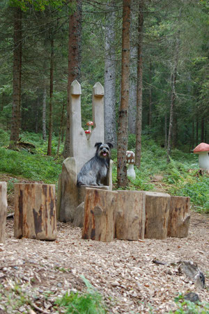 Lady auf Stuhl Zauberwaldpfad