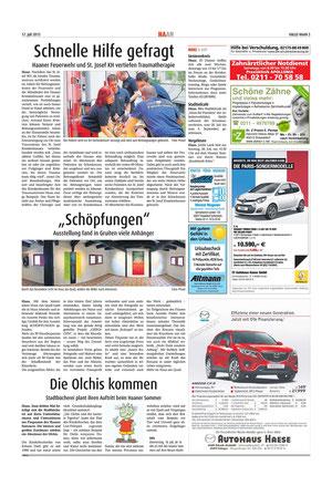 Kunst, Ausstellung, SCHÖPFUNGEN, Annette Palder, Gruiten, bei Düsseldorf, Erfolg, Anklang,