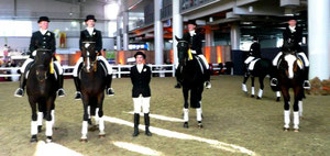 Dressur BS-Nord (Alexandra Stübig, Margeau Braulecke, MF Sigrun Kocziol, Nicole Klatt, Annette Heumann)