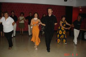 Lors d'un stage pour Danses Loisirs en 2008