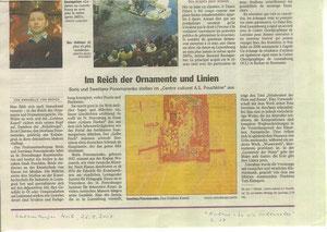 Russische Malerei: Boris u. Swetlana Ponomarenko. Luxemburger Wort, 26.9.2007