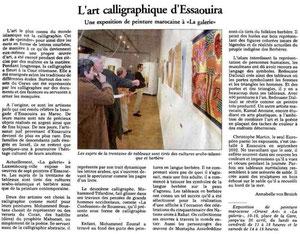 Marokkanische Malerei. Luxemburger Wort 1.4.2004